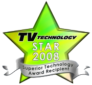 Transvideo TV Technology Star Award 2008 Best advanced technonoly