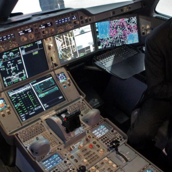 "A380 & A350 5"" cockpit display"