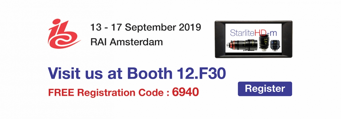 See Aaton Transvideo at IBC 2019 - Booth 12F30