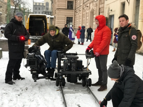 Commercial shoot in Saint Petersburg, Russia; director Gleb Orlov, 2018