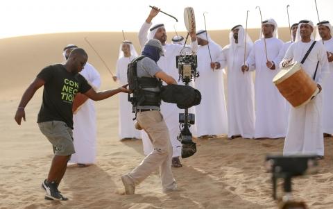 Commercial, shot in summer in the desert