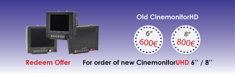 Trade in Transvideo old monitor with CinemonitorHD redeem offer